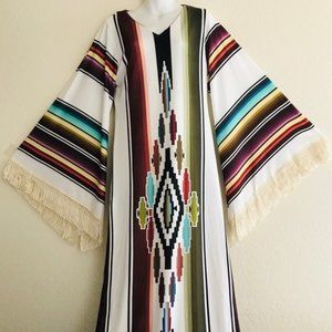 Fabulous New SARAPE BLANKET Print Maxi DRESS M / L